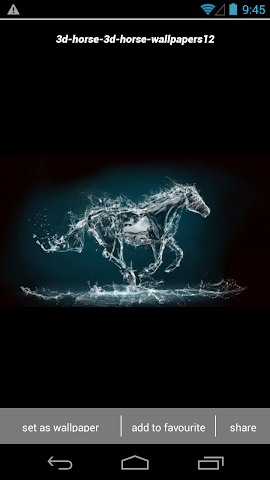 android 3D Horse Wallpapers HD Screenshot 1