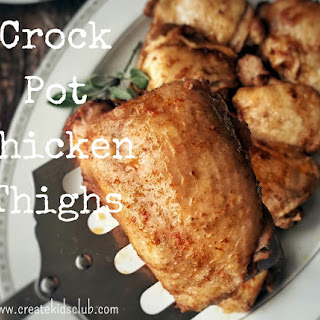 Crock Pot Chicken Thighs.