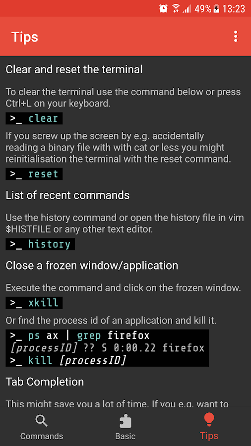 Linux Command Library- screenshot