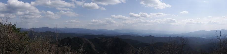 三郎岳からパノラマ(南方面)