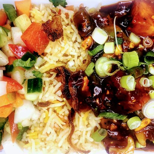 Chilli chicken Rice Bowl