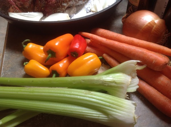 Wash peel and cut up celery & carrots into bite size pieces. Arrange around...