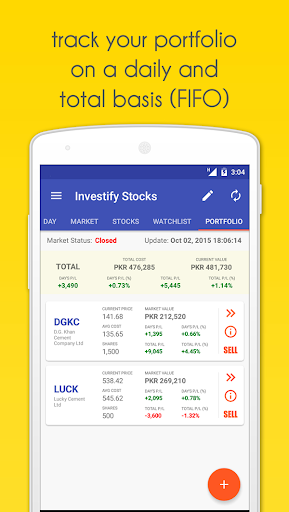 Investify Stocks PSX (Pakistan Stock Exchange) screenshot