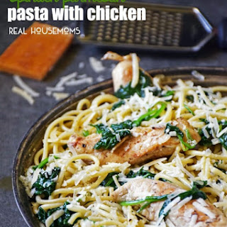 Spinach Parmesan Pasta with Chicken Recipe