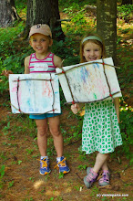Photo: Smiling kids with their crafts at Niquette Bay State Park by Jessica Clark