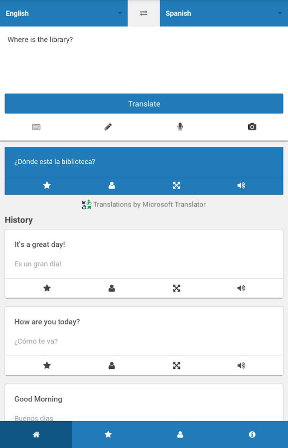 Translate.com App- screenshot