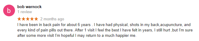 Back Pain and Sciatica Workshop Testimonial
