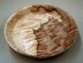 Photo: Richard Webster - quilted-maple bowl - 12""