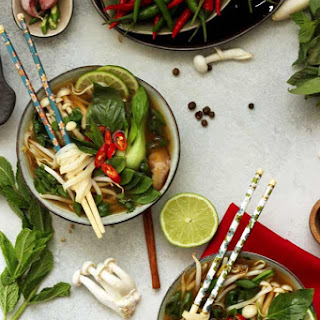 Easy Vegan Vietnamese Pho Soup.