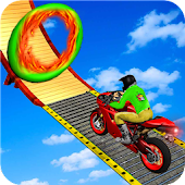 Racing In Moto Bike Stunt : Impossible Road Game