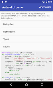 Chaquopy: Python for Android - náhled
