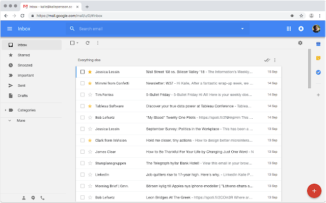 Inbox Theme for Gmail