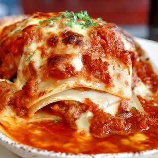 Beefy Crockpot Lasagna.