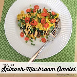 Vegan Spinach-Mushroom Omelet
