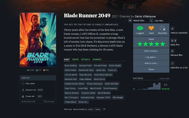 Letterboxd Shortcuts