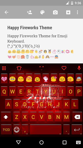 Happy Fireworks Emoji Keyboard