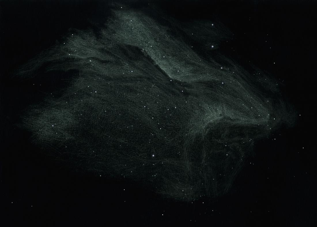 """Photo: La nébuleuse du Pélican (IC 5067-5070) vue au T406 à 88X et au T600 à 135X et filtre OIII. Observations cumulées sur plusieurs nuits, dont 4 ou 5 au Restefond à 2600m. Le T600 a surtout servi à démêler le """"cou"""" du volatile, très complexe et confus au T406."""