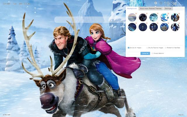 Frozen HD Wallpaper Theme 2019