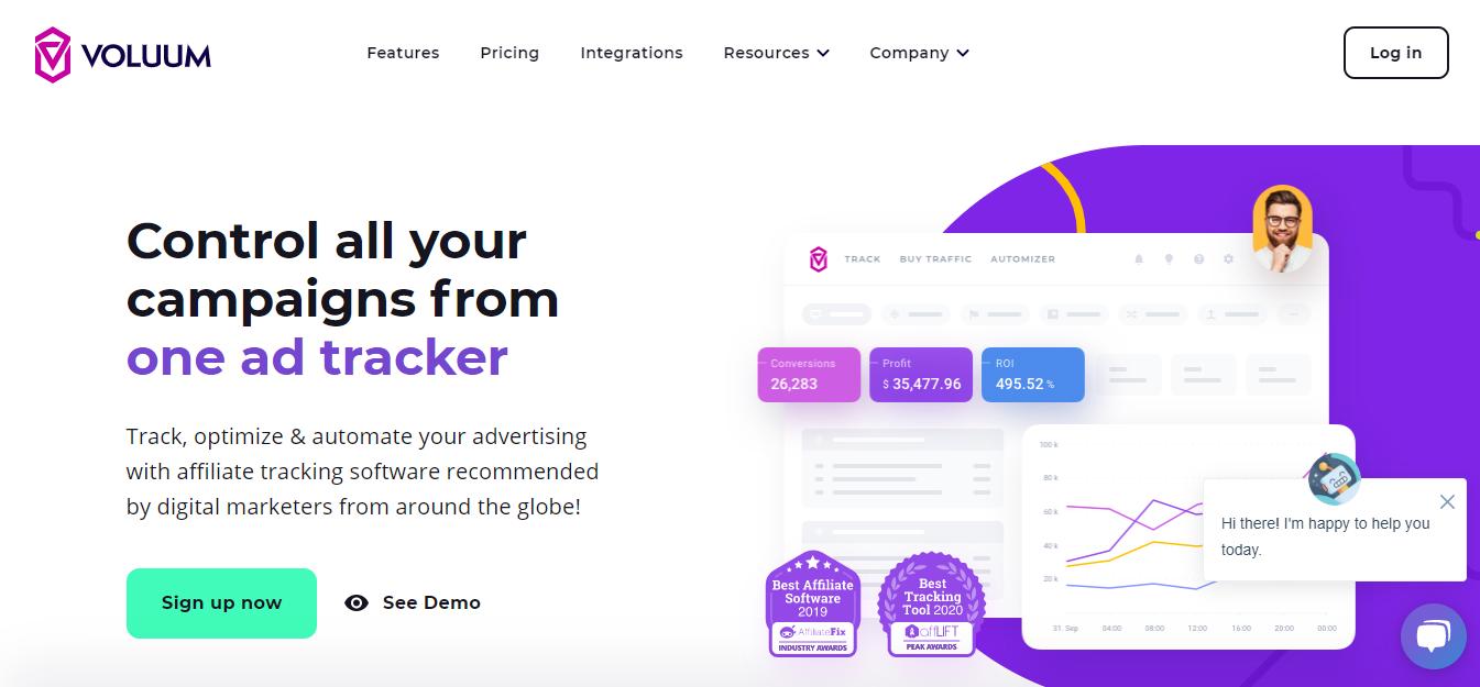native ads tracker: voluum