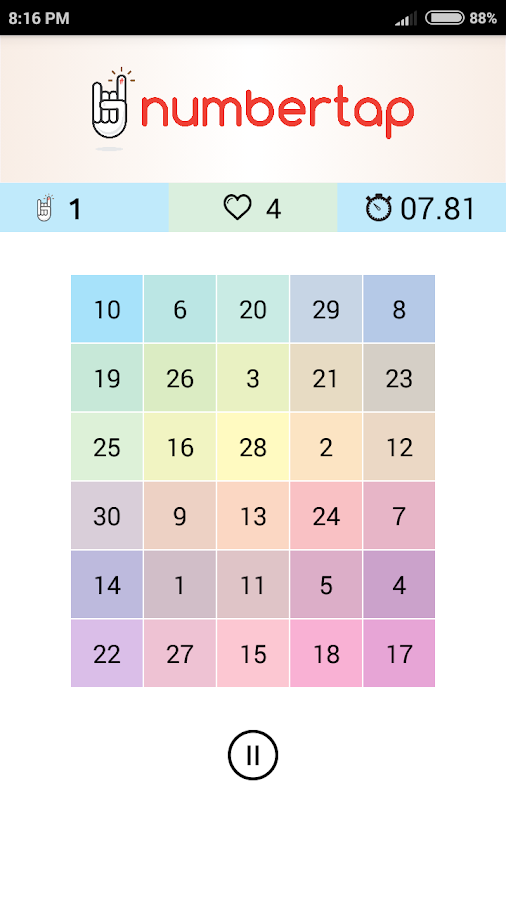 NumberTap- screenshot