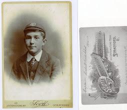 Photo: Age unkown. Photo studio's name (right)