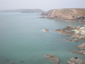 Photo: From Marloes Sands to Broad Haven (Midland Island in bkgrd)