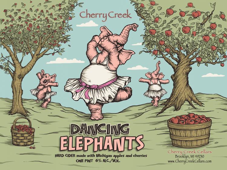 Logo of Cherry Creek Ciders Dancing Elephants Cherry Hard Cider