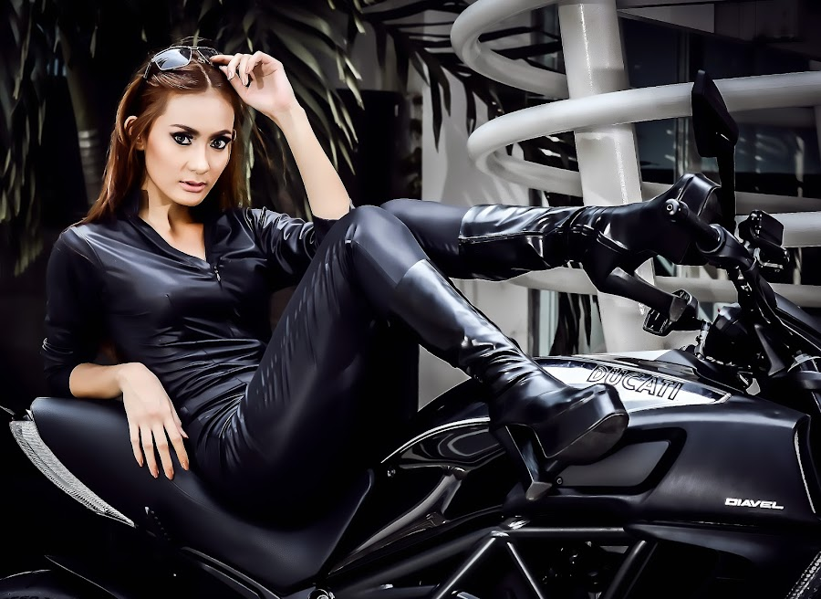 Rya on Ducati..... by Eddy Maryamto - People Portraits of Women