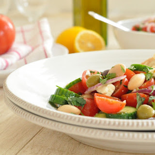 Greek Salad with Butter Beans