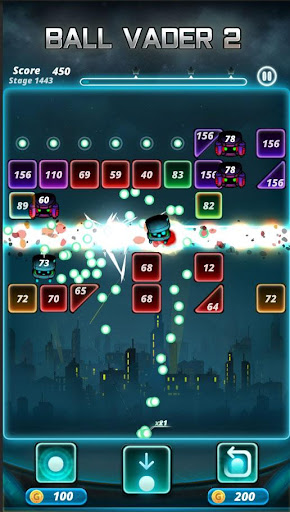 Brick puzzle master : Ball Vader2 android2mod screenshots 4