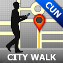 Cancun Map and Walks icon