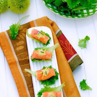 Salmon and Stracchino Rolls.