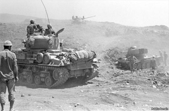 После танкового сражения на Голанских высотах. Шестидневная война, 10 июня 1967 года