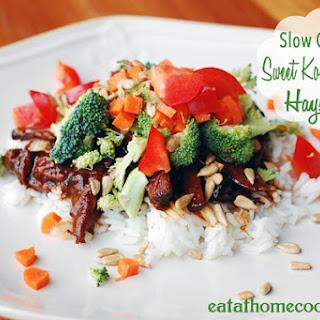Slow Cooker Sweet Korean BBQ Beef Haystacks Recipe