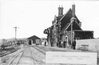 Photo: Wateringbury Railway Station 1886