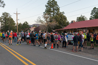 Photo: Before start of 50 km run; Jemez Mountain Trail Runs