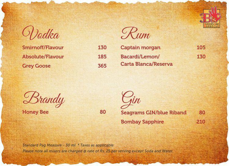 3B's - Buddies, Bar & Barbecues menu 18