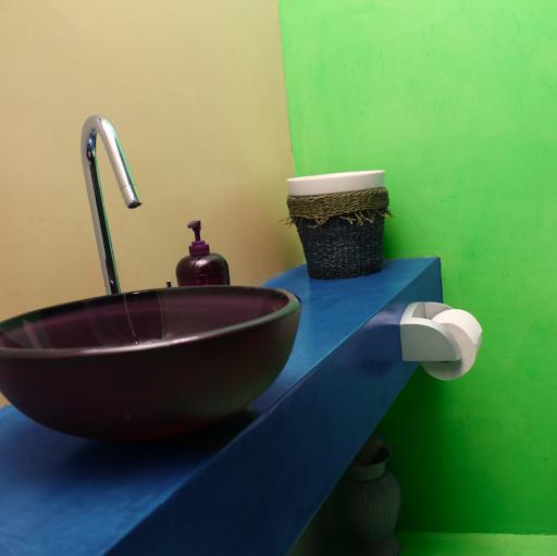 béton ciré coloré salle de bain design