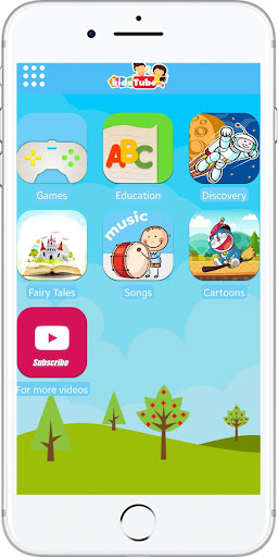 KidsTube - Safe Kids App Cartoons And Games 1.9 screenshots 1