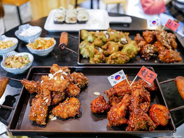 台北東區 娘子炸雞  有八種口味&半半組合,提供外帶外送的韓國炸雞專賣店