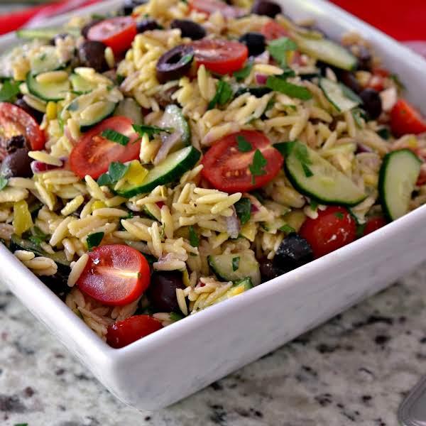 Greek Orzo Salad Recipe