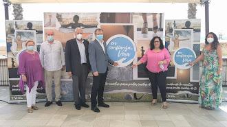 El equipo municipal durante la presentación de la campaña, que tuvo lugar esta mañana en Marau Beach Club.