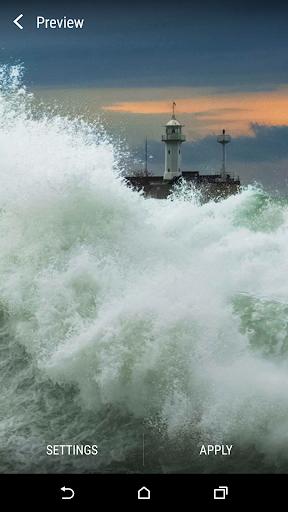 嵐の海岸ライブ壁紙