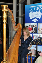 Photo: Harpist, Martina Miller provided a nice touch to the event!
