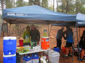 Photo: Aid station #1, 8 miles