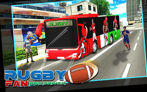 Rugby Fan Bus Driver 3D
