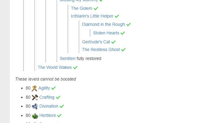 RS Wiki Quest Checker