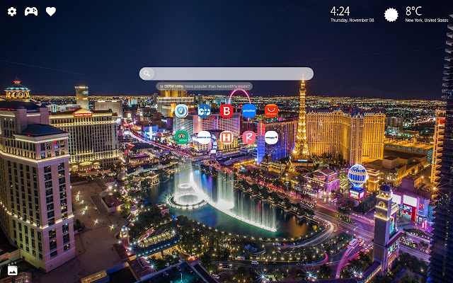 Las Vegas New Tab Wallpaper HD