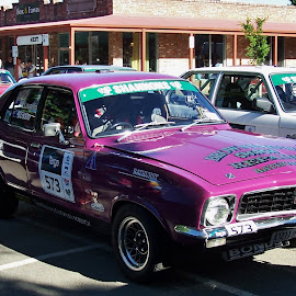 Targa High Country Rally by Sarah Harding - Novices Only Sports ( car, purple, outdoors, novices only, sport,  )