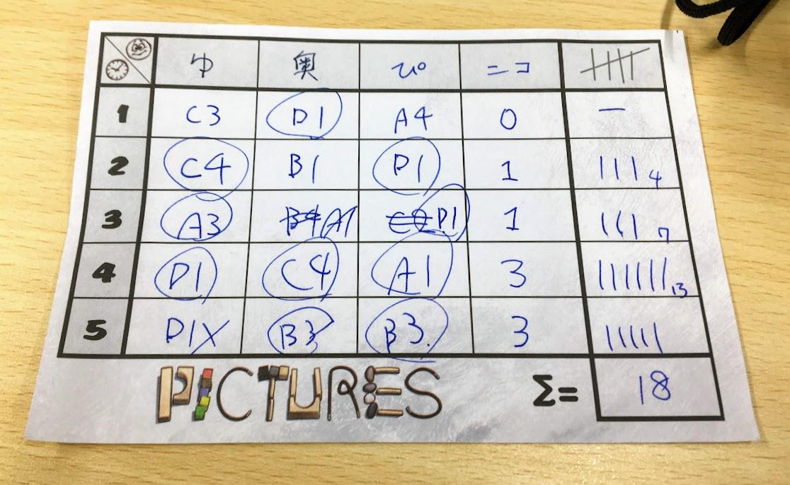 得点計算|ピクチャーズ(Pictures)